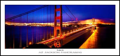California Ocean Photograph - The Golden Path Poster Print by Az Jackson