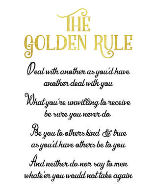 The Golden Rule Print by Flo Karp