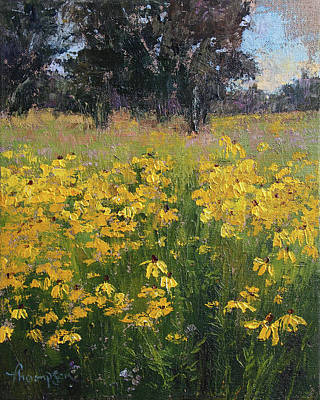 Black Eyed Susan Painting - The Golden Sea by Tracie Thompson