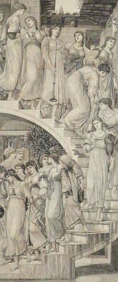 The Golden Stairs Print by Sir Edward Coley Burne-Jones