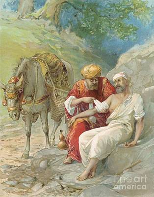 Kindness Painting - The Good Samaritan by Ambrose Dudley