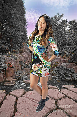 Long Hair Photograph - The Gorgeous Miss Pacifica California Marissa Lai At Stow Lake In San Francisco  by Jim Fitzpatrick