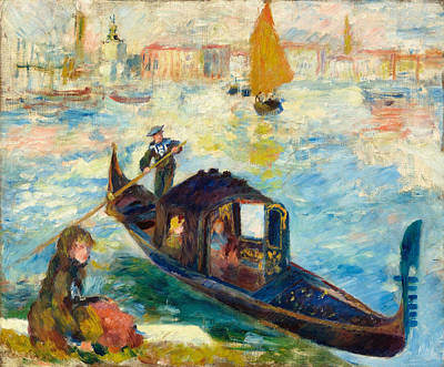 Pierre-auguste Renoir Painting - The Grand Canal. Venice. Gondola by Pierre-Auguste Renoir