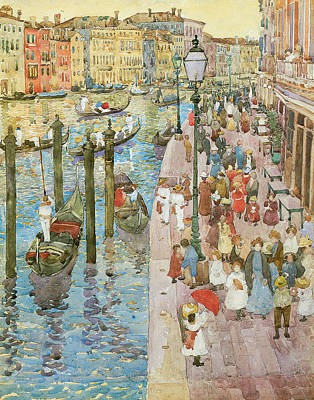 Fine American Art Painting - The Grand Canal Venice by Maurice Prendergast