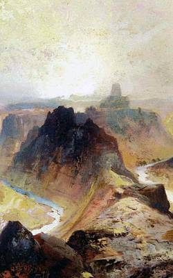 Grand Canyon Painting - The Grand Canyo by Thomas Moran