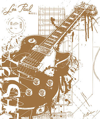 Van Halen Digital Art - The Granddaddy V2 by Gary Bodnar