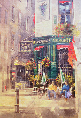 Window Signs Painting - The Grapes by Peter Miller