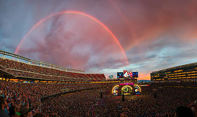 Santa Clara Photograph - The Grateful Dead Rainbow Of Santa Clara, California by Beau Rogers