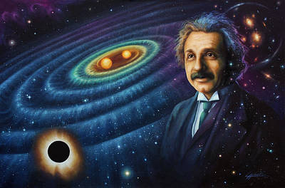 Einstein Painting - The Gravity Of Thought by Lucy West