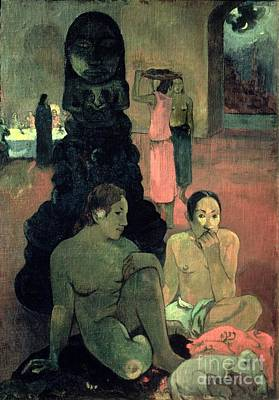 Temple Painting - The Great Buddha by Paul Gauguin