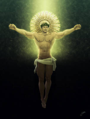 Muscular Digital Art - The Great Christ Of The Golden Glow by Joaquin Abella