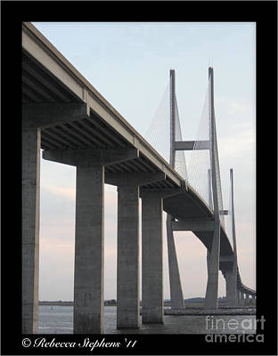 The Great Connection Sidney Lanier Bridge Print by Rebecca  Stephens