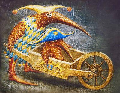 Birdman Painting - The Great Conqueror by Lolita Bronzini