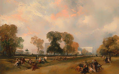 Hyde Park Painting - The Great Exposition Of 1851 by Mountain Dreams