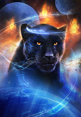 Panther Mixed Media - The Great Feline by Philip Straub