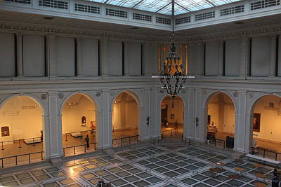 The Great Hall - Brooklyn Museum Of Art Print by Dora Sofia Caputo Photographic Art and Design