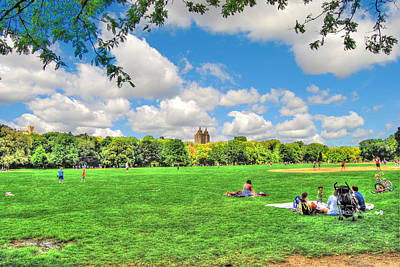 The Great Lawn In Central Park Original by Randy Aveille