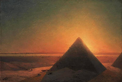 Painting - The Great Pyramid At Giza by Ivan Konstantinovich Aivazovsky