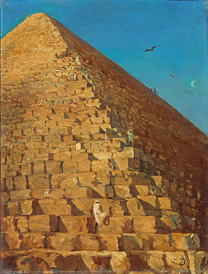Painting - The Great Pyramid. Giza by Adrien Dauzats