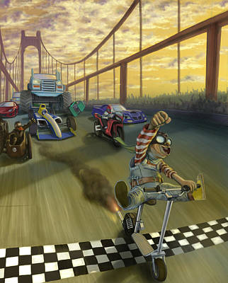 The Great Race Print by Nicholas Bockelman