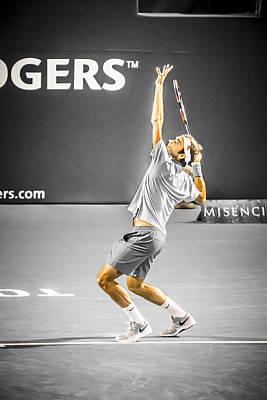 The Great Roger Federer Print by Bill Cubitt