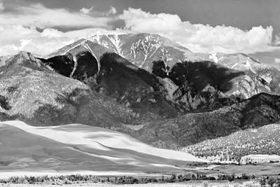 The Great Sand Dune Valley Bw Print by James BO  Insogna