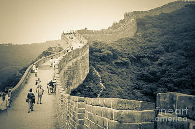 Photograph - The Great Wall Of China by Heiko Koehrer-Wagner