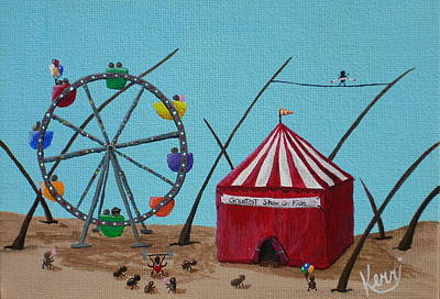 Northern Colorado Painting - The Greatest Show On Fido by Kerri Ertman