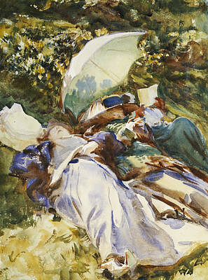 Relax Painting - The Green Parasol by John Singer Sargent
