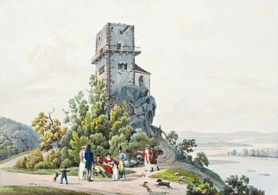 Drawing - The Greifenstein Castle On The Danube by Johann Adam Klein
