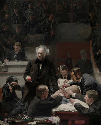Education Painting - The Gross Clinic - Dr Samuel Gross by Thomas Eakins