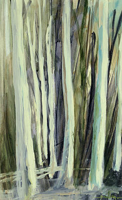 Nature Abstracts Painting - The Grove by Andrew King