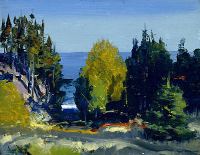 George The Painter Painting - The Grove - Monhegan by George Bellows