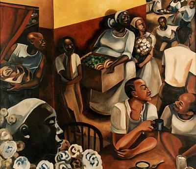Yoruba Painting - The Guinea Hen Got Loose by Karmella Haynes