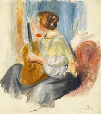 Pierre-auguste Renoir Painting - The Guitar Player by Pierre-Auguste Renoir