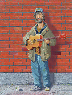 The Guitarist Original by Gary Giacomelli