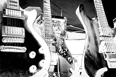 Music Digital Art - The Guitars by David Patterson