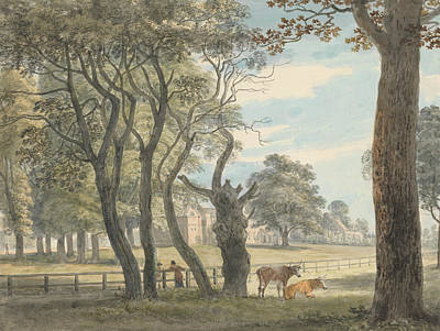 Hyde Park Painting - The Gunpowder Magazine, Hyde Park by Paul Sandby