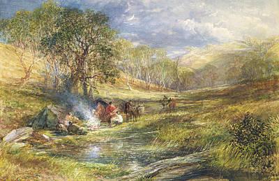 The Gypsy Dell   Moonlight Print by Samuel Palmer