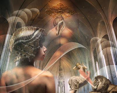 Goddess Digital Art Mixed Media - The Halls Of Atlantis by Terry Fleckney