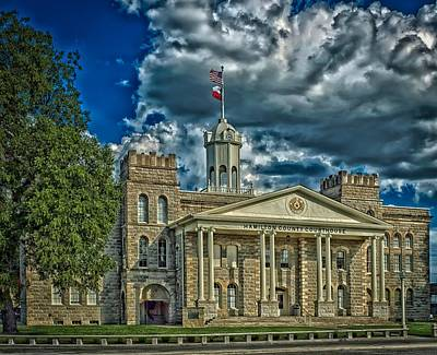 The Hamilton County Courthouse - Texas Print by Mountain Dreams