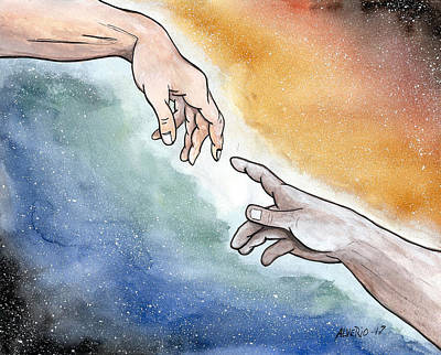 The Hand Of God Print by Edwin Alverio