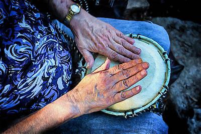 Nik Plugins Digital Art - The Hands Of A Drummer by John Haldane