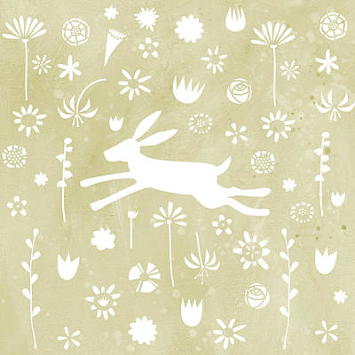 Rabbit Painting - The Hare In The Meadow by Nic Squirrell
