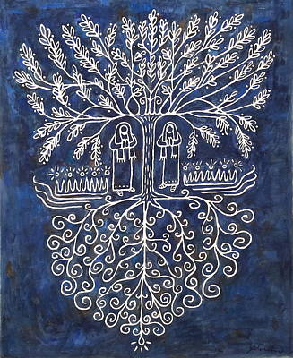 Tree Roots Painting - Tree Of Life by Jonathan Edward Shaw