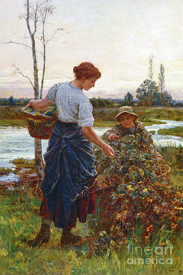The Harvest Print by Frederick Morgan