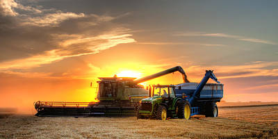 Agriculture Photograph - The Harvest by Thomas Zimmerman