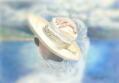 Woman Mixed Media - The Hat by Arline Wagner
