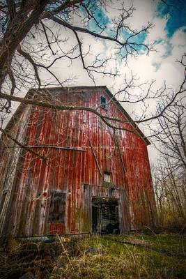 The Haunted Barn Print by Linda Unger
