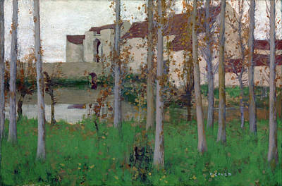 David Gauld Painting - The Haunted Chateau Grez-sur-loing by David Gauld